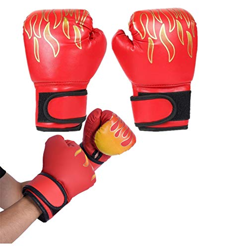 Sunfauo Boxhandschuhe Boxhandschuhe Kinder Boxhandschuhe für Kickboxen Thai Boxhandschuhe PU Leder Boxhandschuhe Boxsackhandschuhe red,Freesize