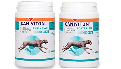 Vetoquinol CANIVITON FORTE Plus 2 x 90 Tabletten (180 Tabletten) - Ergänzungsfuttermittel für Hunde zur Unterstützung der natürlichen Gelenkfunktion