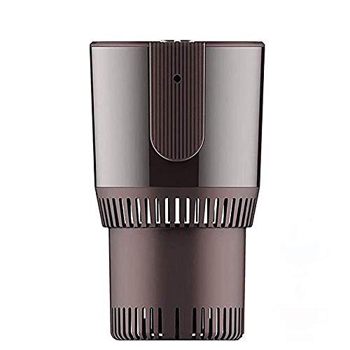 Autokoeler en warmer mok, draagbare DC12 V elektrische 1-knops-koeling en verwarming drankhouder mini-koelkast verwarming grijs