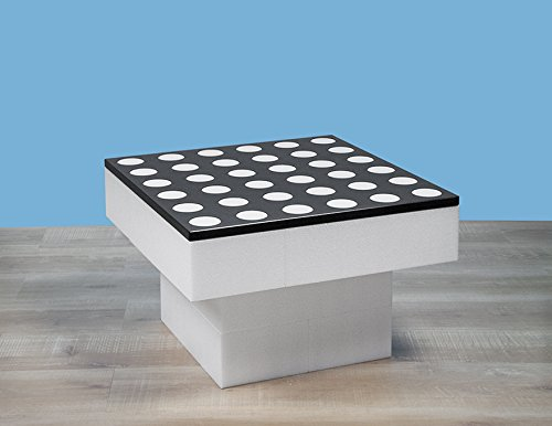 BAM - Table basse blanche modulable 57x57x36,5cm