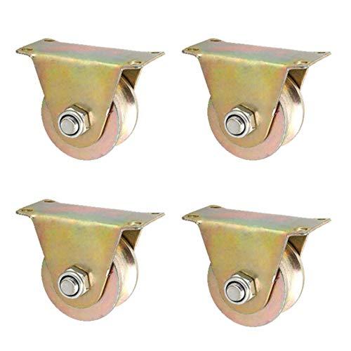 MY1MEY 4 Ruedas De Puerta con Ranura En U, Rodillo De Puerta Corredera Resistente, Rueda RíGida para Marco De Puerta, para Máquinas Industriales Puertas Correderas(Size:3in)