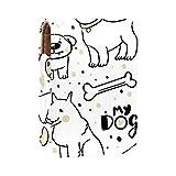 Lindos perros con collares lápiz labial caso exterior titular de lápiz labial para monedero mini bolsa de lápiz labial bolsa de viaje cosmética con espejo para mujer toma hasta 3 lápiz labial