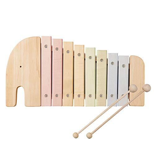 ぼん家具 もっきん 楽器 子供 木のおもちゃ 動物 ゾウ ぞうさん 音遊び 天然木 かわいい