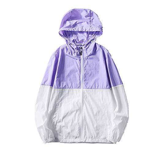 NOBRAND - Abrigo protector solar para hombre con capucha