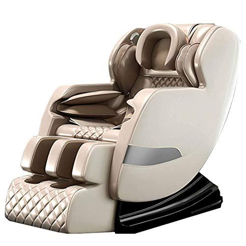 Cuerpo completo masaje de la silla reclinable masajes al 12 técnicas artificiales / airbag de cuerpo completo de embalaje / Pie 360deg;airbag de embalaje / gravedad cero / Instalación libre, oro jiany