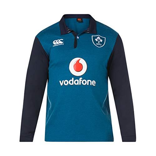Canterbury Herren Offizielles Irland-Rugby-Trikot 18/19, langärmelig XL Marokkanisches Blau meliert