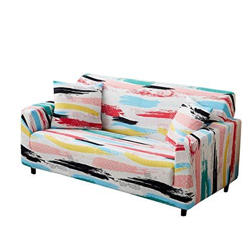 Modern Office Lounge Chair Sessel Sofa Familie Anti-Rutsch-Volldeckung Kombination Magic Color Elastic All-inclusive-Universal-Sofa-Abdeckung (Size : Quadruple)