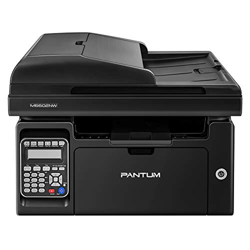 Pantum M6602NW Compact Wireless Monochrome All in one Laser Printer, Scanner Copier Fax 4 in 1 Auto Document Feeder(One-Year Limited Warranty)