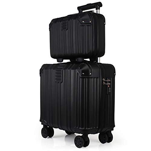 YULAN kostuum, kofferbakmateriaal, tweedelig, stam koffer, 16 inch, waterdicht, hoge capaciteit, universele fiets, voor op reis, unisex, meerkleurig, 40 x 24 x 34 cm