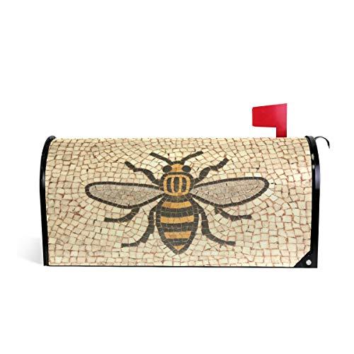 ZZKKO Bee Magnetische brievenbus, voor buiten, tuin, huisdecoratie, standaard formaat 20,8 x 18 inch