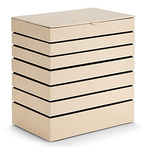 XYF Caja De Joyería Joyero De 7 Capas De Gran Capacidad para Mujer. Anillo Superpuesto, Pulsera Organizador Joyero Regalos De Boda Ligeros Y Lujosos De Alta Gama (Color : A, Size : 29.5x19.5x31 cm)
