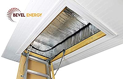 """Premium Energy Saving Attic Door Insulation Stairway Cover Stair Ladder Opening Tent with Easy Access Zipper 25"""" x 54"""" x 11"""" R-21"""