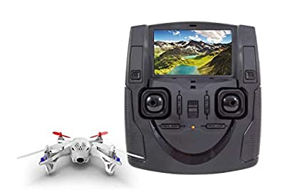 Hubsan 15030400 Quadcopter Drone X4 FPV Quadcopter – RTF Drone with Camera Battery, Charger and Remote Control and Integrated Colour Monitor H107D by XciteRC
