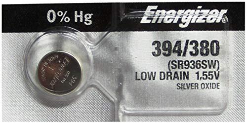 Energizer SR936SW Knopfzelle für Armbanduhren, 394 / 380, Silberoxid, 2Stück