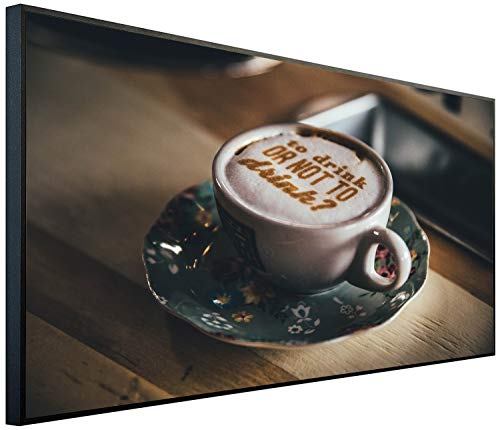 Ecowelle Chauffage infrarouge avec image - 750 W - 60 x 120 cm - Fabriqué en Allemagne - C 116 Café