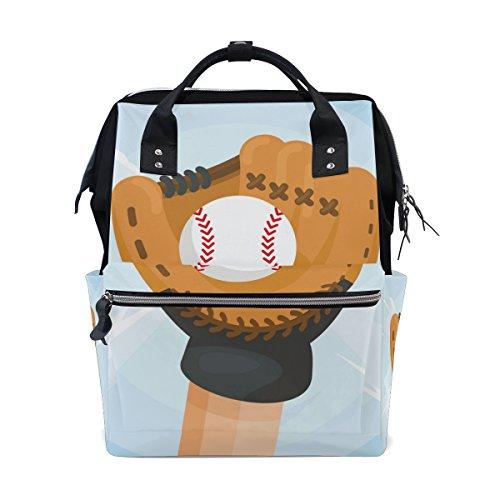Softball Gants bébé couches Sac à dos Sac à langer momie Sac à langer Fourre-tout Sacs Plus Grande capacité de stockage