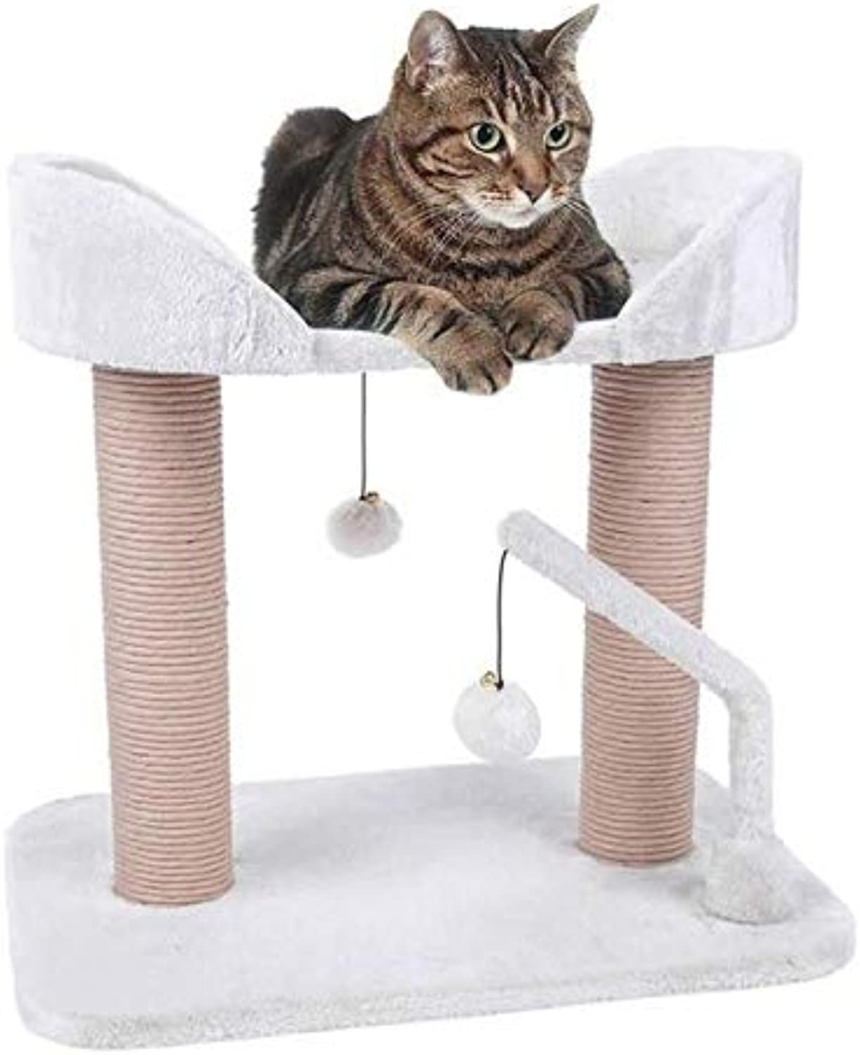 Petface Cat Scratch Post Two Tier Playstation Cream