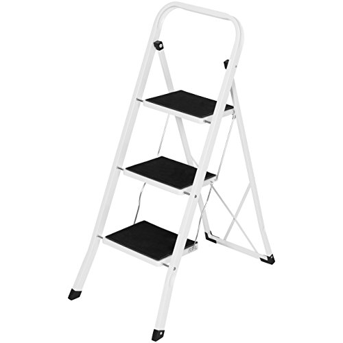 Best Choice Products Portable Folding 3-Step Ladder w/Rubber Feet Caps, 330lb Capacity New Hampshire