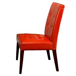 Best Selling Burnt Orange Tufted Dining Chair, 2-Pack