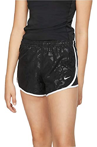 Nike Dri-FIT Big Kids' (Girls') Printed Running Shorts Black CD7507 010 (l)