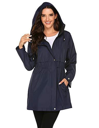 Balancora regenjas dames regenjas waterdicht windjack capuchon trenchcoats outdoor draagbaar travel S-XXL