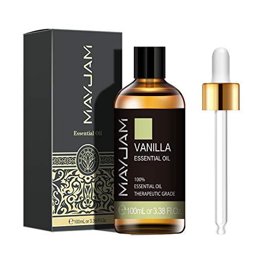 MAYJAM エッセンシャルオイル バニラ 100ml 精油 アロマオイル 天然100% ギフト