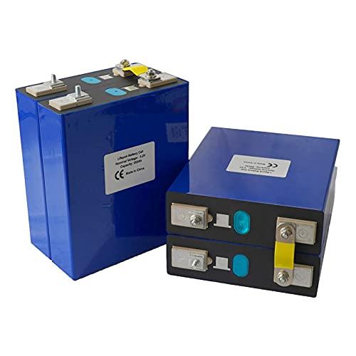 4pcs 3.2v 202ah BateríA de Fosfato de Hierro y Litio, Lifepo4 Celdas BateríA de Carga Solar BateríA de Ciclo Profundo Sistema de Almacenamiento de EnergíA Solar para RV, Marina