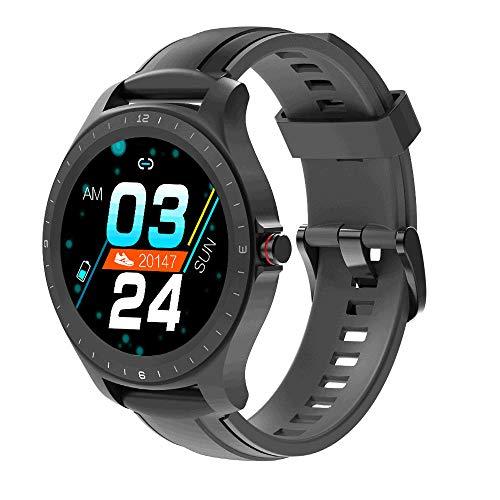 Relógio SmartWach BlitzWolf BW-HL2, à prova d'água - Preto (Preto com pulseira de Silicone Cinza.)