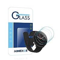 【3枚入り】 Mihence Compatible POLAR Unite 保護フィルム, 9H ガラス保護フィルム 対応 POLAR(ポラール) Unite Smartwatchスマート腕時計 2.5Dラウンドエッジ ウォッチ指紋防止保護膜