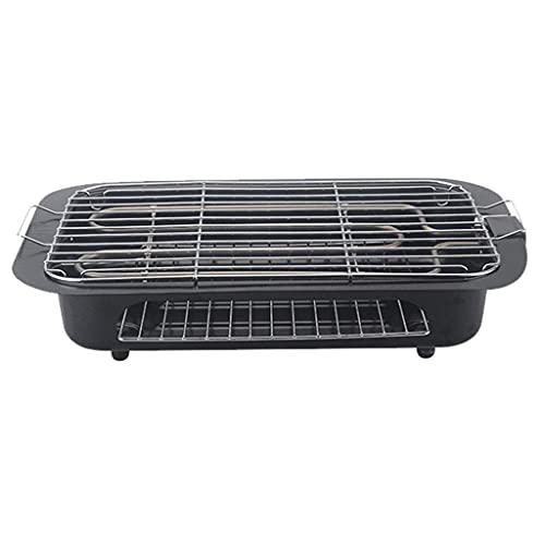 N\\C Indoor BBQ Grill, 5-Gang Temperatureinstellung Abnehmbarer Elektrogrill, Mehrzweck Supergroße Kapazität Leicht zu reinigen 2000W LKWK