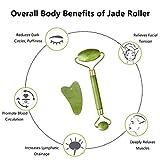 Zoom IMG-2 jade roller massager viso gua
