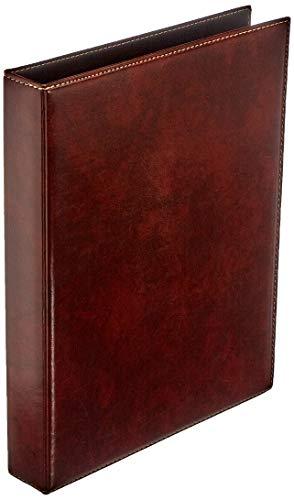 Veloflex 5143760 - Ringbuch A4 Exquisit, Ordner, hochwertige Weichfolie, Lederoptik, 4-Ring-Mechanik, 25mm, braun