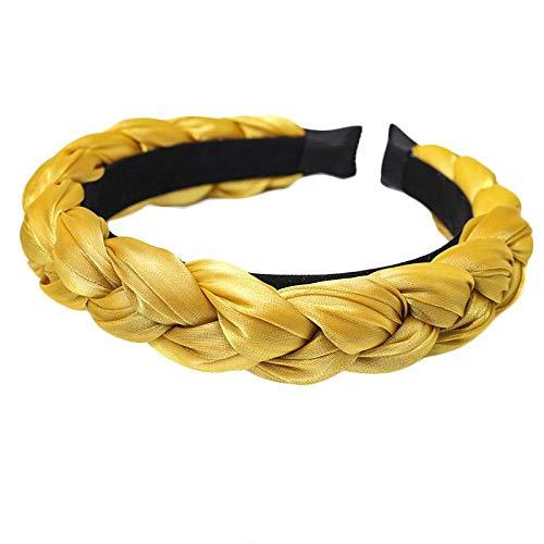 Dames vintage brede haarband Zon geel