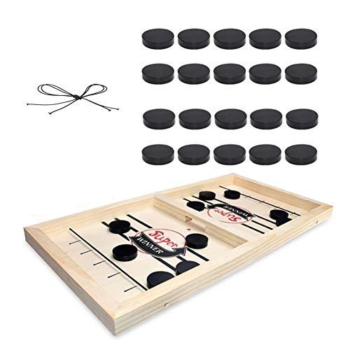 Sayiant Kopf-an-Kopf-Tisch-Hockey-Tischspiel aus Holz für Kinder und Erwachsene, tragbares Hockeyspielset für Familienfeier, Geburtstagsgeschenk