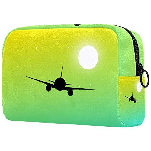 Vliegtuig make-up tas toilettas voor vrouwen huidverzorging cosmetische handige zak rits handtas