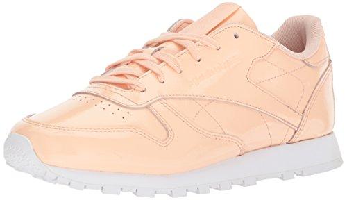 Reebok Women's Classic Leather Walking Shoe, Desert dust/White 2, 6.5 M US