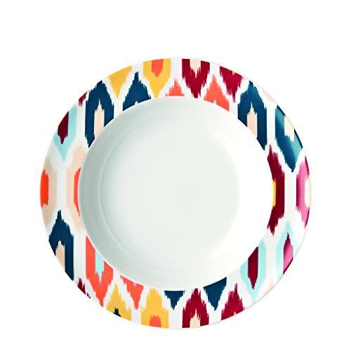 Thomas Sunny Day Assiette, Petit-Déjeuner, Porcelaine, Motif Ikat, Passe au Lave-Vaisselle, 22 cm, 10222