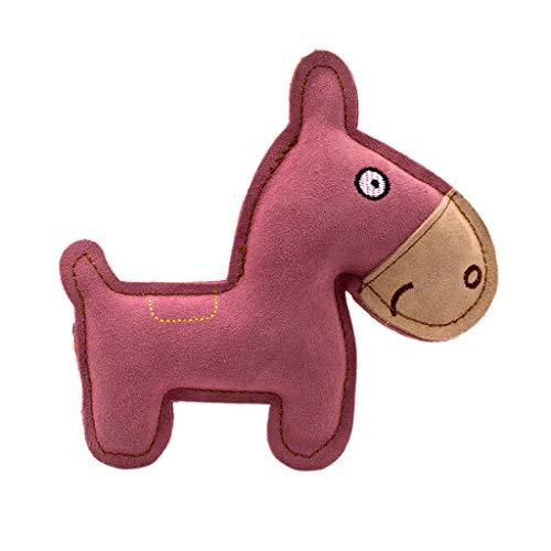 Rtengtunn Haustier Spielzeug, Cartoon Leder Hundespielzeug Kauen Training Zahnresistent Sound Spielzeug für Hunde Welpen - 4