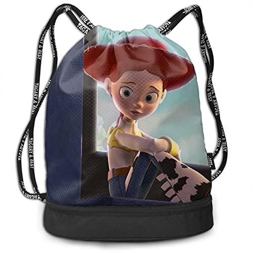 Toy Story - Mochila con cordón, portátil, para ocio, deporte, gimnasio, viajes, bolsa de hombro, 35 x 40 cm