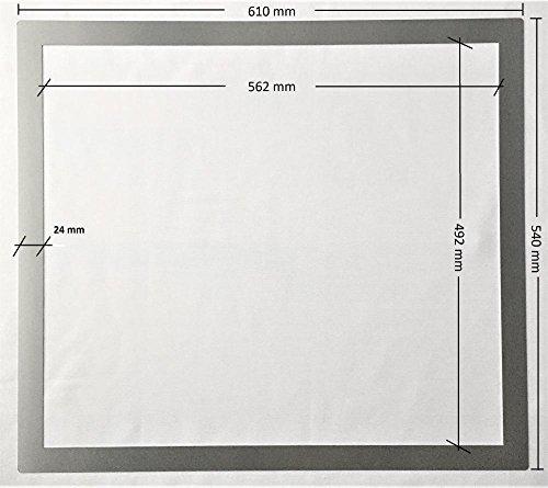 Rivanto Edelstahl Adapterrahmen für Kochfelder, Edelstahlrahmen 61 x 54 x 0,1 cm, für Arbeitsplattenausschnitt, Made in Germany