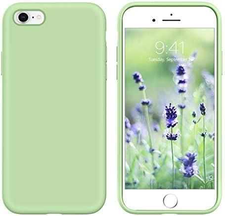 GUAGUA iPhone 6s Case iPhone 6 Case Liquid Silicone Soft Gel Rubber Slim Thin Light Microfiber product image