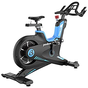 L NOW Indoor Exercise Bike Indoor Cycling Stationary Bike, Rear Belt Drive, 38Lb Flywheel, High Weight Capacity, Magnetic Resistance, Commercial Standard for Home Cardio Workout (Model: A5)