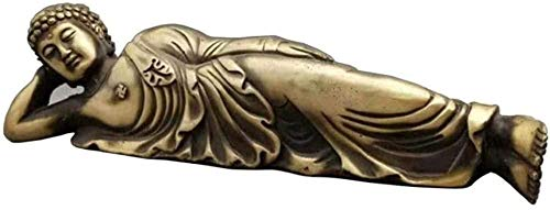 MFHDK Statues Sculptue Sculptures,Collectible Figurines Sculpture Decoration Buddha Statue Decoration Sculpture Shakyamuni Buddha Statue Reclining Buddha Copper Taiwan Buddha Bureau Buddhist Gifts