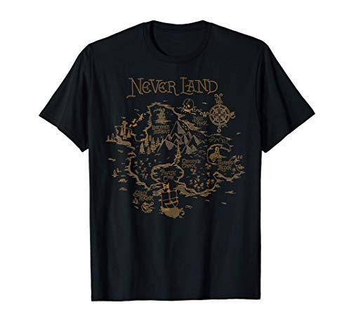 Disney Peter Pan Never Land Map Graphic T-Shirt T-Shirt