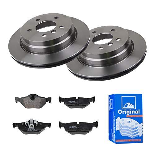 2 Bremsscheiben belüftet 300 mm + Bremsbeläge Hinten von ATE (1420-22256) Bremsensatz Bremsanlage Bremsen-Kit,Bremsenset, Bremsscheiben, Bremsbeläge, Bremsen-Set, Beläge, Bremsbelag, Bremsbelagsatz,