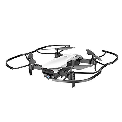Koi dubbele camera luchtopnames 4-assige vliegtuigen, hoofdloze optische stroompositionering gebarenfoto van de drone-afstandsbediening met 1080P en IN-knop-terug-vouwen