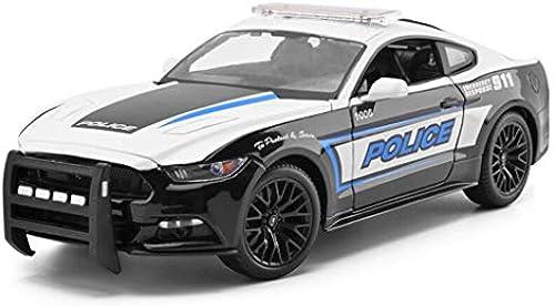 GXYGWJ Auto modell auto 1 18 Ford Mustang polizeiauto simulation legierung druckguss spielzeug ornamente sport auto sammlung schmuck 25,5x11x8,2  M