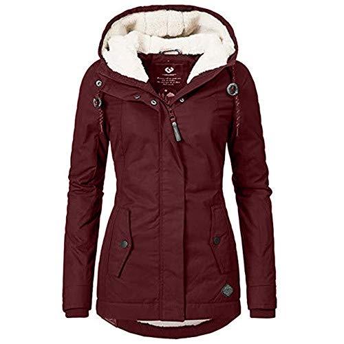 Las mujeres abrigo invierno nuevo con capucha espesar algodón al aire libre caliente chaqueta señoras simple mediados largo Wadded capa básica Outwear