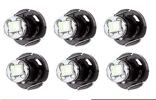 cciyu 6 Pack Ice Blue T4/T4.2 Neo Wedge 2835SMD LED Dash Climate HVAC control Light Bulbs Replacement fit for 2002-2006 Toyota Camry