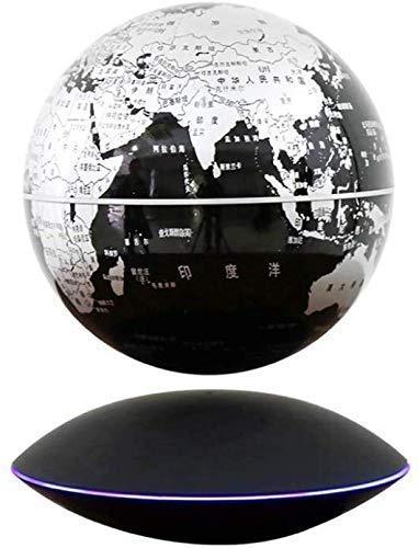SuRose Adornos de Globo, Globo de Mesa Explore The World Lámpara de levitación de Globo magnético Mapa del Mundo Flotante Giratorio de 360 Grados Luz LED Decoración del hogar Festival Regalo de c